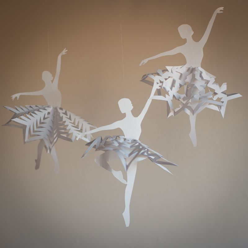 Ballerina Snowflakes.