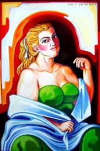 """'Burlesque Dancer' Oil on Canvas 24"""" x 36"""""""