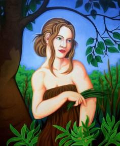 """""""The Garden"""" oil on canvas. 24"""" x 32"""""""