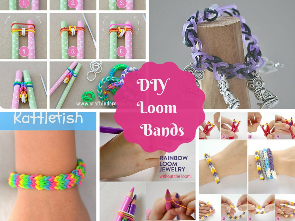 7 Great DIY Tutorials On How To Make Loom Bands Part 1