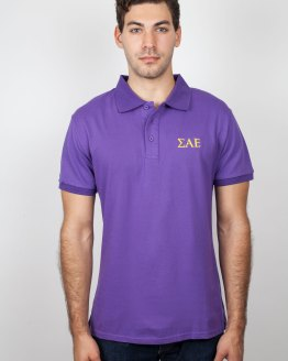 SAE Clothes Purple Polo Shirt