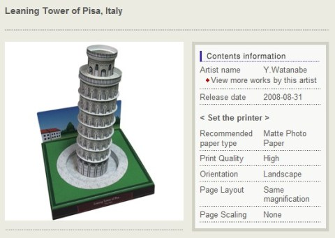 Der schiefe Turm von Pisa als Bausatz