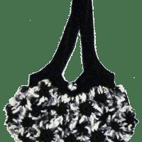 Bolso flores entrelazadas ganchillo