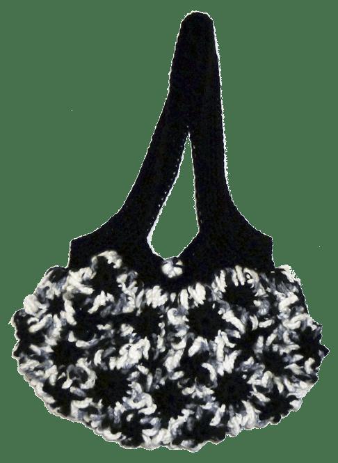 Bolso ganchillo flores entrelazadas