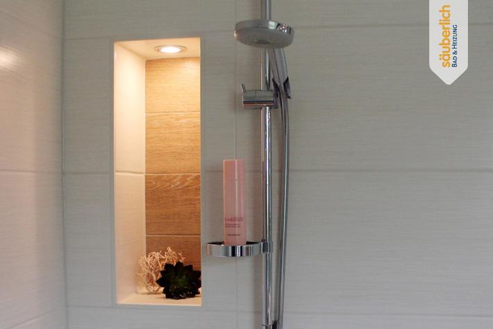 Einbau einer großzügigen Dusche in Dresden - Säuberlich Bad und