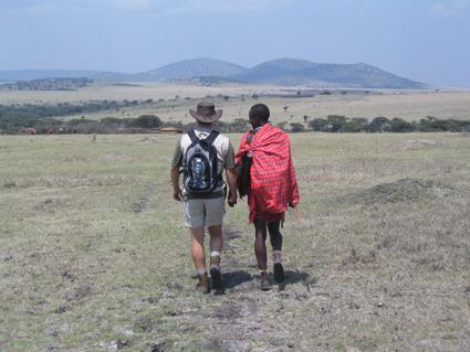 Paseando por Loita Hills. Agosto de 2005.Kenya