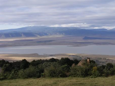 Ngorongoro desde Crater Lodge. Tanzania. Agosto de2007