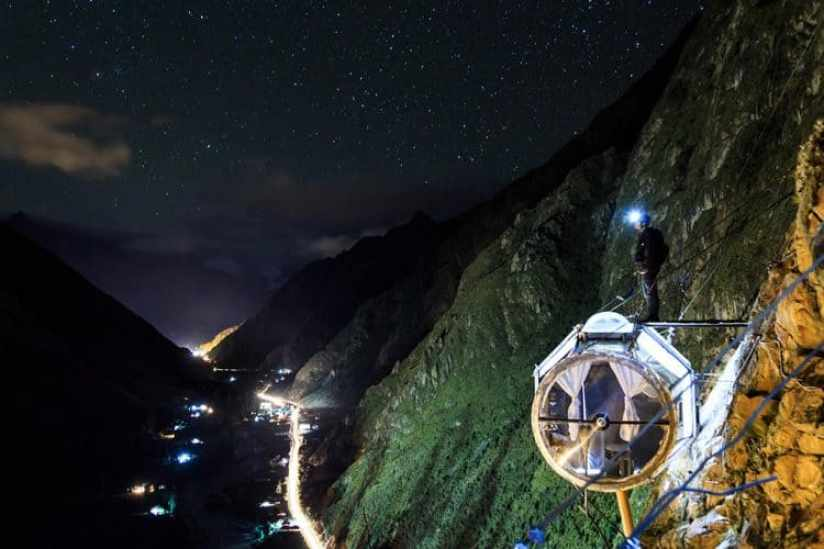 Skylodge adventure in Peru, Glass pods
