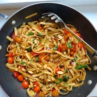 Veggie Pasta Stir-fry - Fiesta Friday # 120