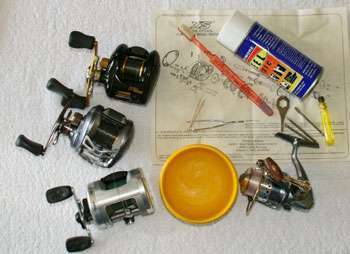 Maintenance tools for Taking Care of your Reels and Rod