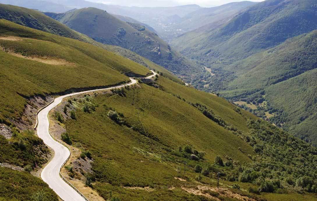 Traveling mountain roads