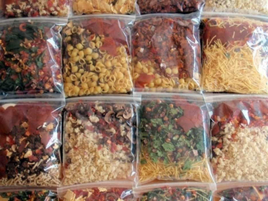Making Dried Food and Packing