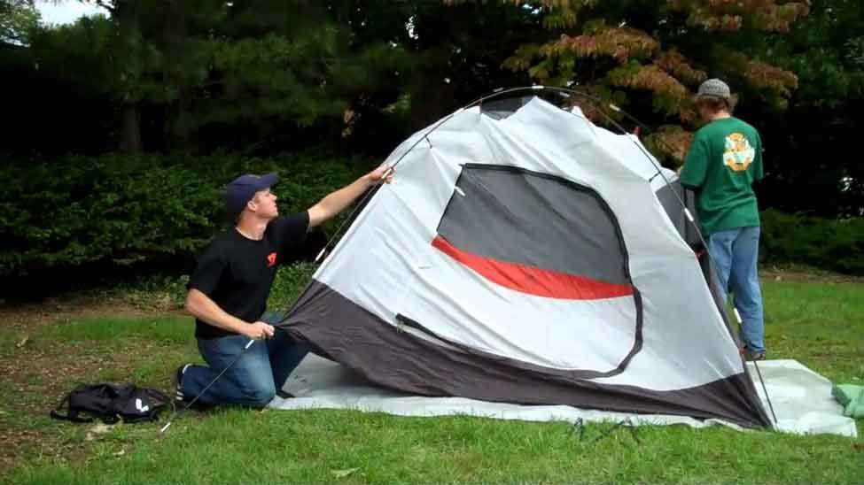 Setting Up a Tent at Home