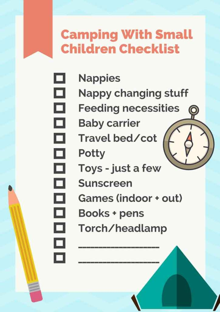 Camping with Toddlers: Checklist