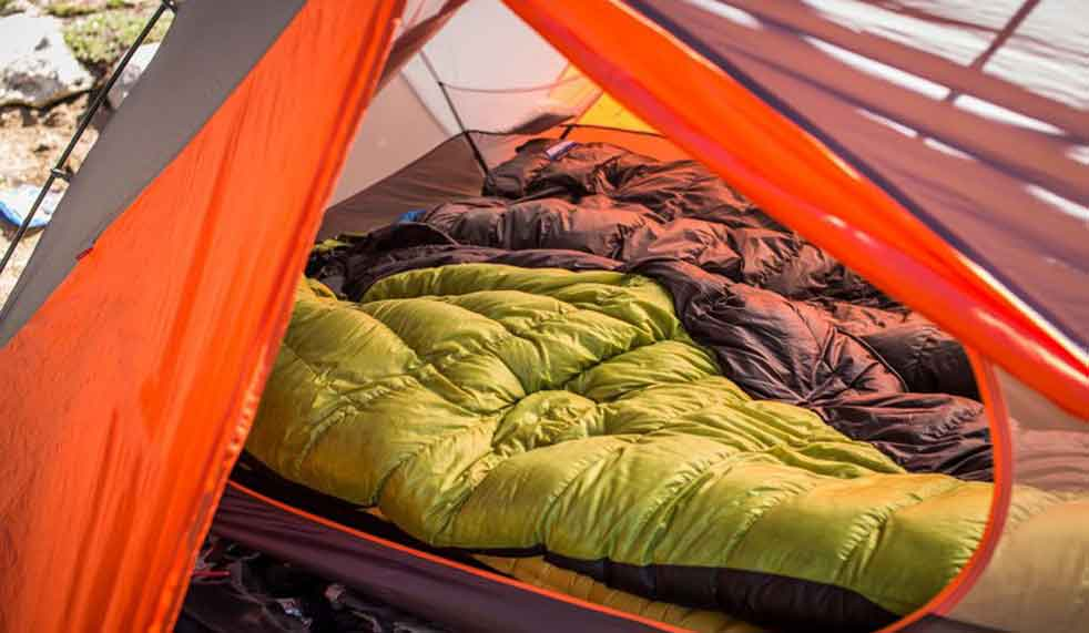 Sleeping in a Tent on Sleeping Bags