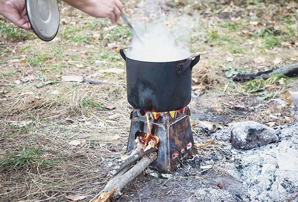 Safety Considerations while using wood burning camping stoves
