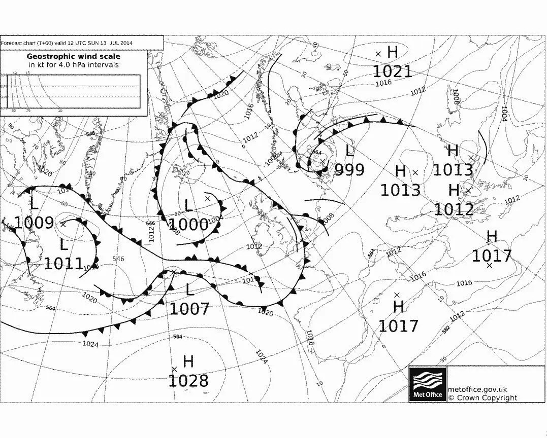 Isobars Are Lines On A Weather Map Representing What