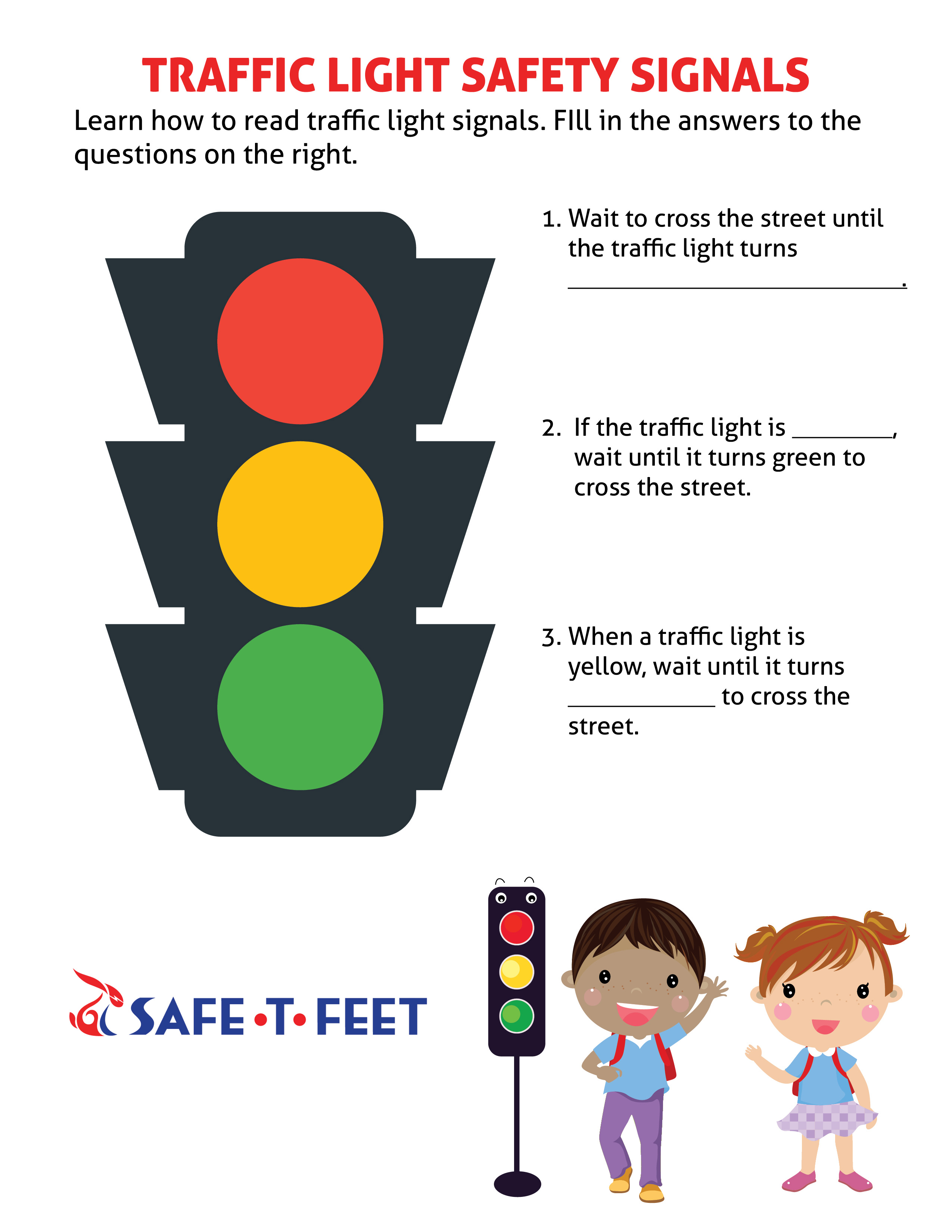 Pedestrian Safety Preschool Worksheet