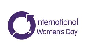 International Women's Day symbol in purple