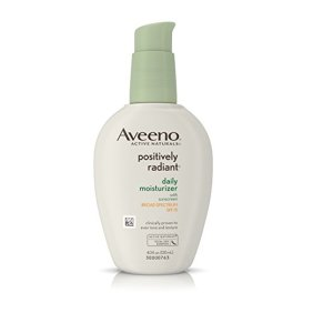 Aveeno Positively Radiant Daily Moisturizer With Broad Spectrum SPF 15, 4 Oz
