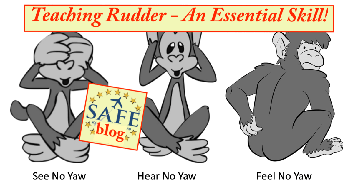 Teaching Accurate Rudder Usage!