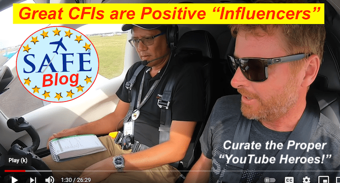 """YouTube Heroes? CFIs are """"Influencers!"""""""