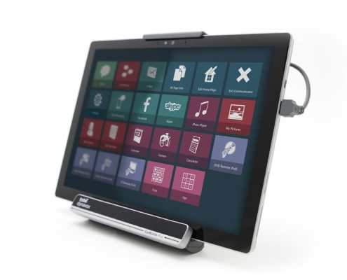 Tobii Dynavox eyemobile plus Operating System: Windows 10 Pro Screen Resolution / Size: 2736 x 1824 / 12.3″ SSD Hard Disk Storage: 128 GB Processor Speed: 2.60 GHz Camera Resolution Front / Back: 5 / 8 Megapixel Dimensions: (Tablet, w x h x d) 292 mm x 201 mm x 8.5 mm, 11.5″ x 7.9″ x 0.33″ Dimensions: (Bracket & Tablet, w x h x d) 292 mm x 220 mm x 45 mm, 11.5″ x 8.66″ x 1.77″ Weight (Bracket & Tablet): 1440 g (3.17 lbs) A custom-made durable case for your Surface Pro is included