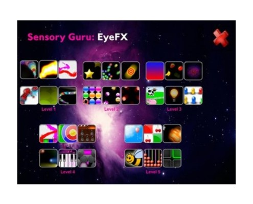 SENSORY EYE FX 30 software applications designed for the earliest level of eyegaze computer access