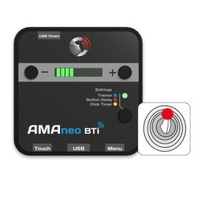 AMAneo BTi Our mouse adapter supports almost every mouse. In particular, assistive alternatives such as head mice, trackballs, mouth mice, joysticks, mouse controls integrated in wheelchairs enable access to the world of iPad & iPhone with AMAneo BTi. Below is a selection of important alternative mice that are particularly well supported.