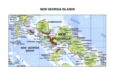 Solomon Islands Exhibition History maps New Georgia Islands A3indd