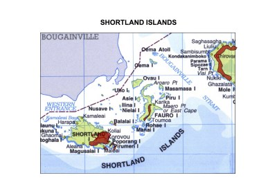 Solomon Islands Exhibition History maps Shortland Islands A3