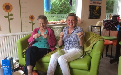 Knitting keeps the mind active at Safe Haven