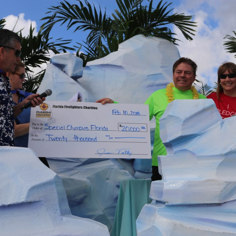 Florida Firefighter Charities raised $20,000.00 for Special Olympics Florida