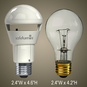 LED Light Bulbs with Battery Backup for Power Outage or Emergency!