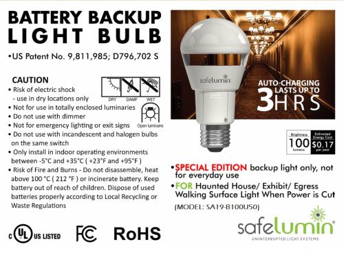 auto charging light bulb
