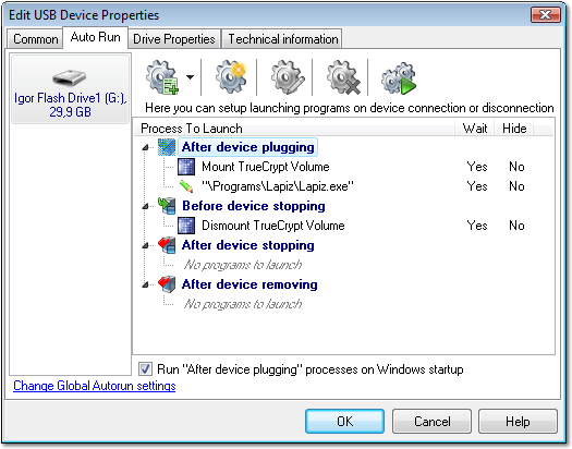 Automatically running programs