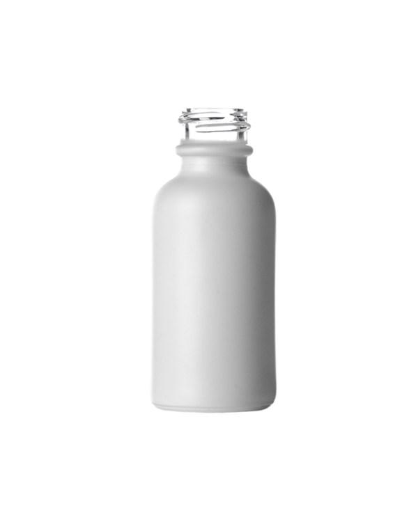 Matte White Boston Round Glass Bottle
