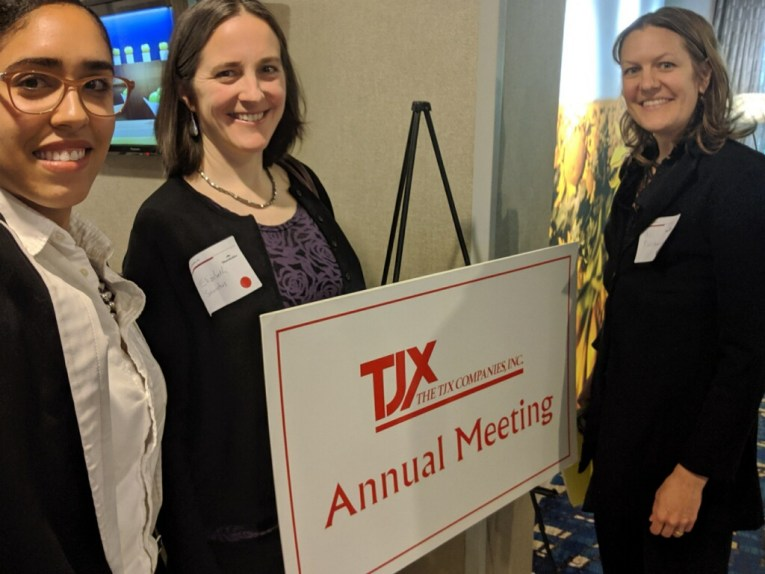 Advocates at TJX shareholder meeting