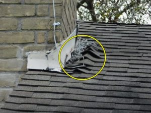 Bent and curled shingles home inspection issue