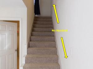 Missing handrail