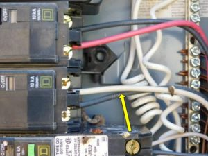 Wrong color wire at panel home inspection issue