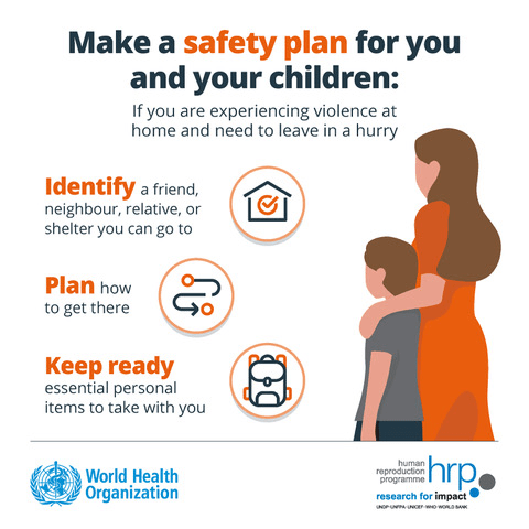 Make a safety plan for you and your children