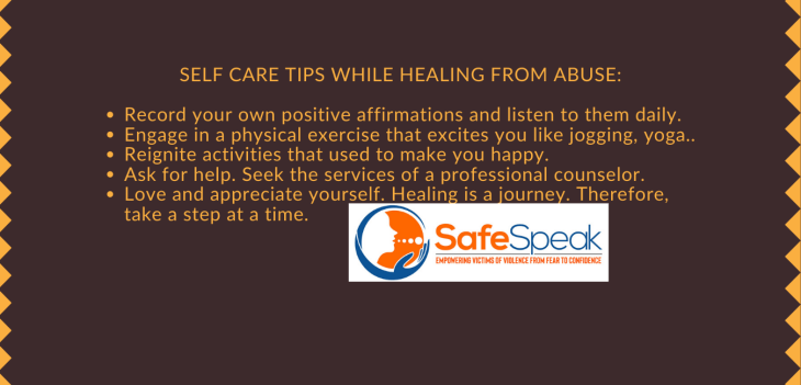 Self-care tips while healing from abuse