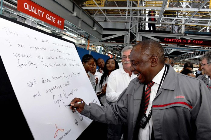 President Cyril Ramaphosa officiated over the Japanese automotive
