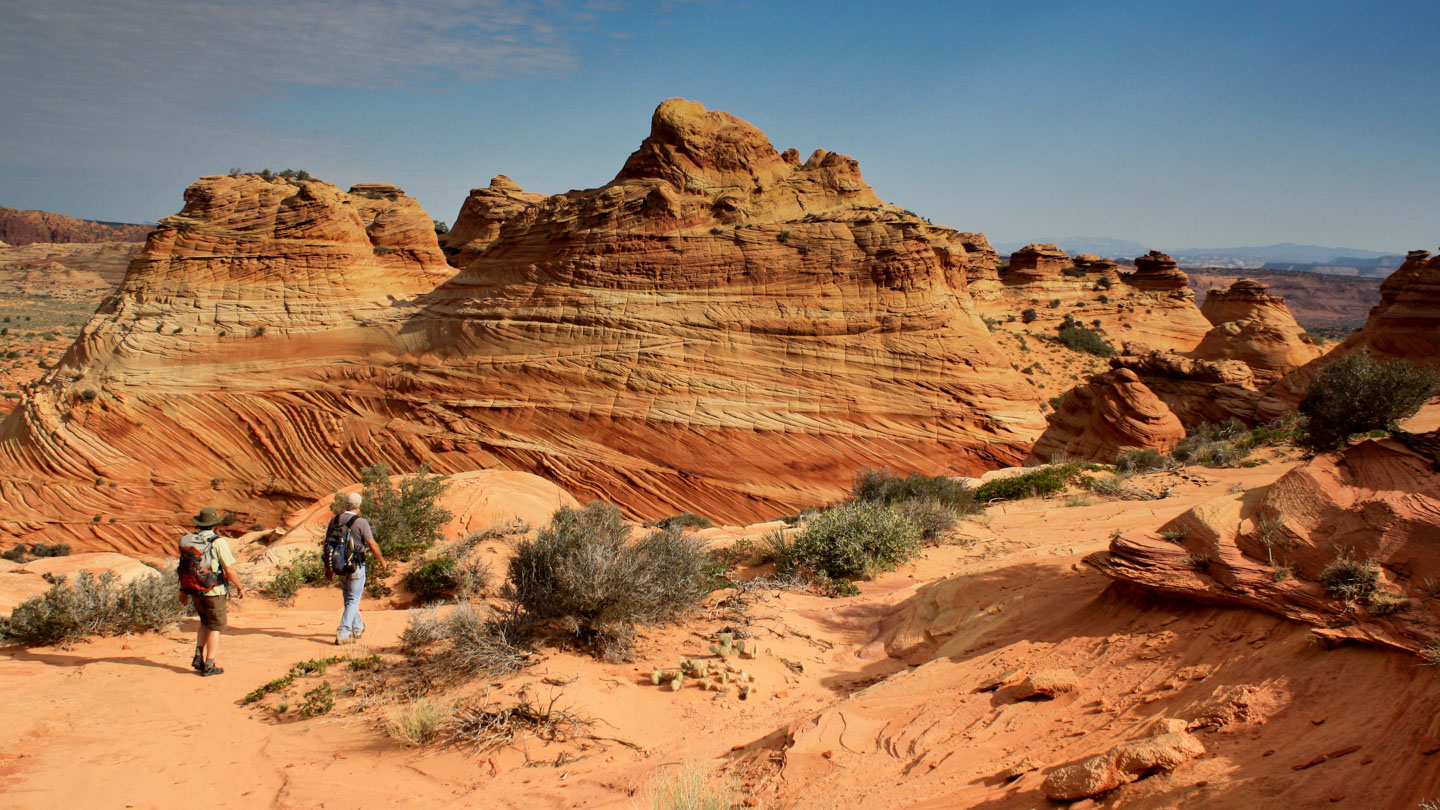 Unterwegs in den Coyote Buttes South mit Guide Brent von Paria Outpost & Outfitters