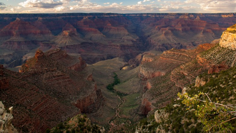Sonnenuntergang am South Rim des Grand Canyon National Park
