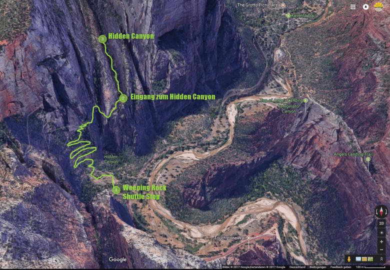 Hidden Canyon Karte