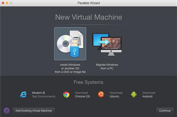 parallels wizard install ubuntu on mac