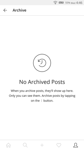 archived posts instagram