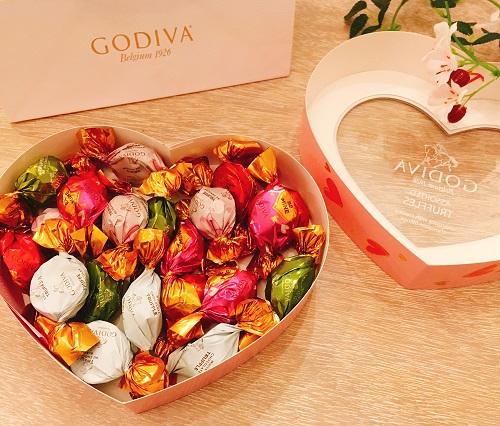 GODIVAのアソートチョコレート中身の写真